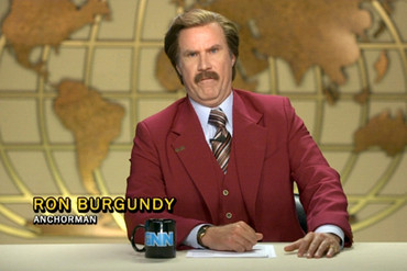 Will Ferrell as Anchorman Ron Burgundy
