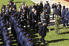 British PM David Cameron visits a police academy in Tripoli, Libya (Reuters)