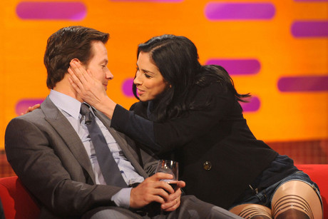 Mark Wahlberg and Sarah Silverman on The Graham Norton Show (AAP)