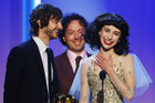 Gotye and Kimbra accepting their Grammy (Reuters)