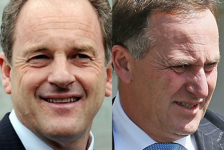 Labour leader David Shearer and Prime Minister John Key (file)