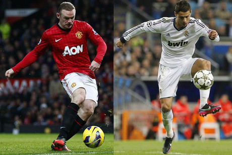 Will it be Rooney, left, or Ronaldo who makes the difference between the two sides today (Reuters file pics)