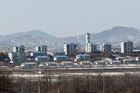 A view of a North Korean village at the Military Demarcation Line in the Demilitarized Zone (AAP)
