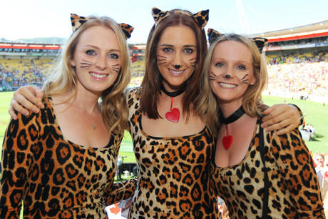 Fans during the Hertz Wellington Rugby Sevens (Photosport)