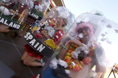 Snow Globes were the overall Supreme winner in the Best Dressed Competition at the Wellington Sevens
