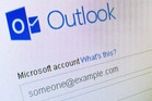 The new Outlook email service in action