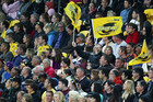 Fans enjoy the Hurricanes against the Blues at Westpace Stadium (Photosport file)