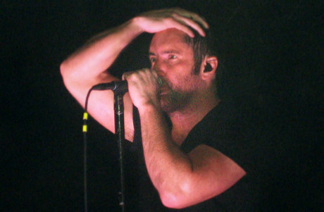 Trent Reznor performing at a Nine Inch Nails concert in 2008 (WENN.com)