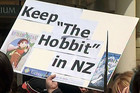 Thousands protested to keep The Hobbit filming in New Zealand