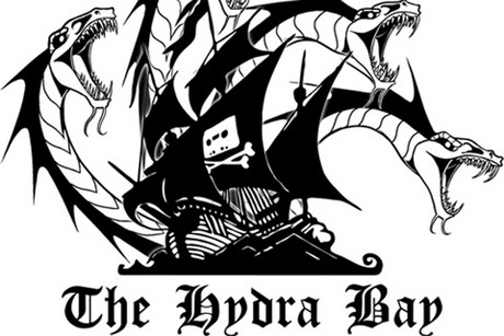 The Pirate Bay logo modified with a hydra