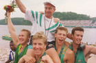 Noel Donaldson with the Atlanta Australian Olympic crew (AAP file)