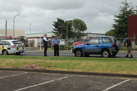 Auckland police found Mr Prasad's car this morning on Plunket Ave in an industrial area in Manukau (Photo: Liam Julian)