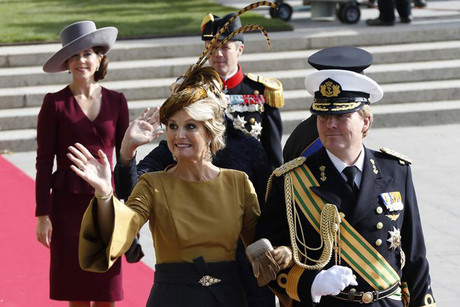 Netherlands' Crown Prince Willem-Alexander (R) and Princess Maxima (Reuters)
