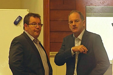 Labour MP Grant Robertson and Labour leader David Shearer
