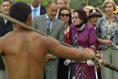 Governor General Sir Jerry Mateparae and Titewhai Harawira