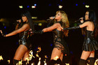 (L-R) US singers Kelly Rowland, Beyonce and Michelle Williams of Destiny's Child perform during the halftime show of Super Bowl XLVII (AAP)