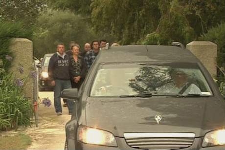 Sir Paul is farewelled by family as he leaves his Hawke's Bay home