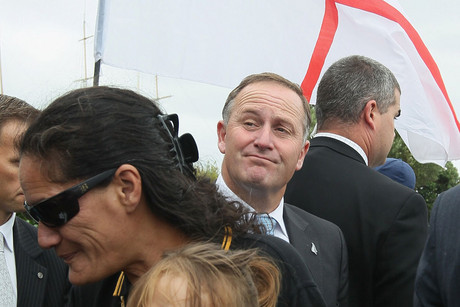Prime Minister John Key at Waitangi (Getty)