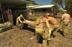 The cleanup is underway in Queensland