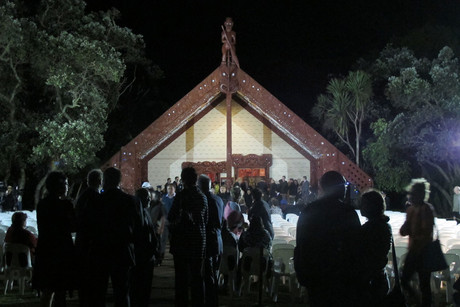 Guests gather for the dawn service (Photo: Kim Choe / 3 News)