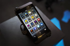 The BlackBerry Z10 on display (Reuters)