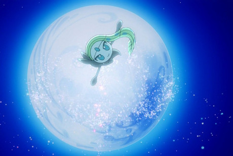 Meloetta's Aria Forme in the Pokemon anime