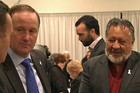 Prime Minister John Key and Maori Party co-leader Pita Sharples