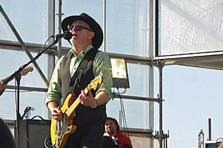 Dave Dobbyn performing at Bastion Point