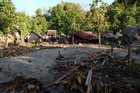 Venga Village in the Solomon Islands where all houses have been destroyed and swept inland (Photo: World Vision)