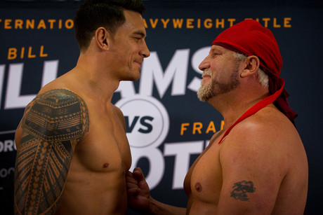 SonnyBill Williams, left, will do battle with Francois Botha for the vacant WBA International Heavyweight belt (Photosport)