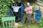 Sir Peter Jackson and Prime Minister John Key in Hobbiton, 2010 (Photo: Daniel Rutledge)