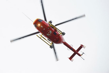 The chopper found the man, who just wanted a ride to his car (file pic)