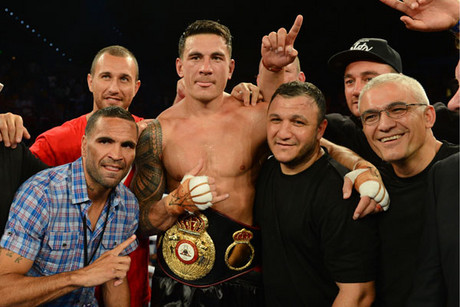 Sonny Bill Williams wins the belt amidst a huge amount of controversy (AAP)