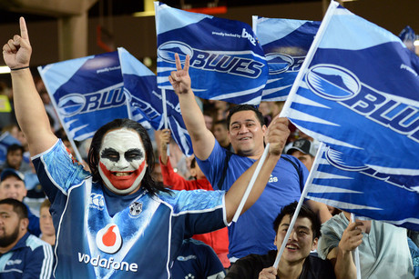 Blues fans happy to see their side step out onto Eden Park for the first time in the 2013 season (Photospoft)