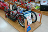 Some of Burt Munro's original motorcycles on display at a hardware store in Invercargill, 2007 (AAP file)