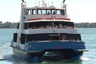 A Fullers ferry in Auckland Harbour
