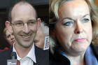 Acquitted David Bain and Justice Minister Judith Collins