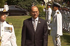 President U Thein Sein is welcomed to Auckland today