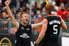 The Black Sticks Men celebrated a win that sets up an important match against Australia (Photosport file)