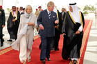 The Prince of Wales and Duchess of Cornwall are meet at Jeddah Airport by the Governor of Makkah (AAP)