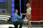 The proposal was broadcast live-to-air