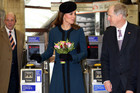 The Duchess of Cambridge visits the Baker Street Tube Station in London (AAP)