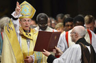 Justin Welby at his enthronement ceremony (Reuters)