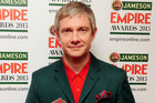 Martin Freeman shortly after winning his award (AAP)