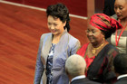 China's First Lady Peng Liyuan (L) (Reuters)
