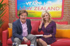 The hosts of fake TV show 'Wake Up New Zealand'