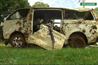 The bus which crashed in Kenya