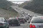 Easter traffic backs up on SH1 north of Auckland  (Photo: Brook Sabin)