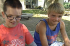 Gisborne nine-year-olds Cory Newman and Tom Duncan