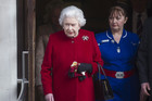 Queen Elizabeth II leaves King Edward VII hospital in London (AAP)
